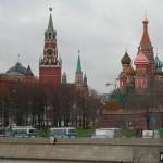 Вид с Мосворецкого моста на собор Василия Блаженного
