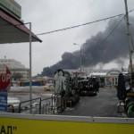 Пожар Южный порт 18.43