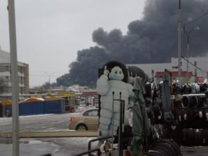 Пожар Южный порт 18.45