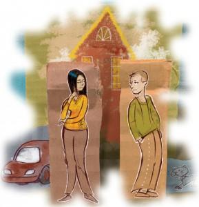 Развод родителей - один из параметров, влияющих на стоимость квартиры.