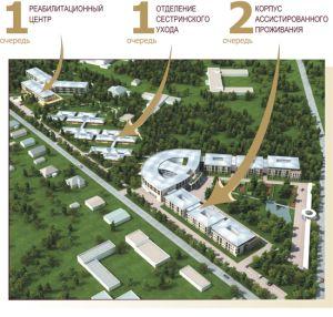 Проект дома престарелых в  Павловске Ленинградской области.